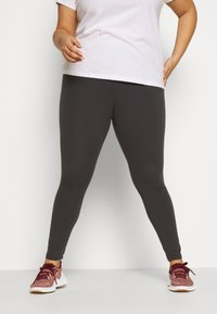 adidas Performance - ESSENTIALS TRAINING SPORTS LEGGINGS - Leggings - solid grey/purple tint - 0