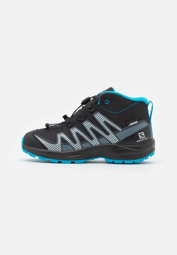 XA PRO V8 MID CSWP UNISEX - Hiking shoes - black/monument/hawaiian ocean