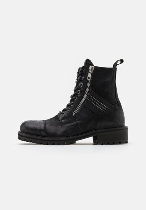 MELTING TAPE WOMAN  - Bottines à lacets - black