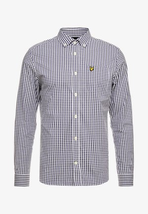 SLIM FIT GINGHAM  - Shirt - navy