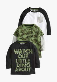 Next - THREE PACK - Langærmede T-shirts - black - 0