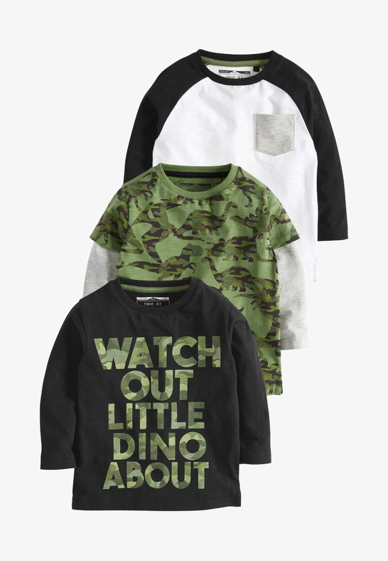 Next - THREE PACK - Langærmede T-shirts - black