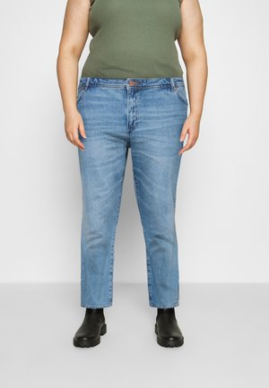 NMOLIVIA SLIM STRAIGHT - Straight leg jeans - light blue denim