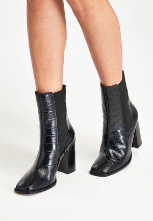 BLACK SIGNATURE TALL CHELSEA BOOTS - Classic ankle boots - black