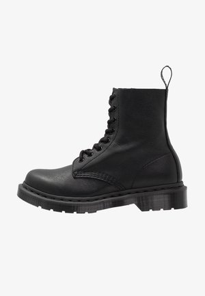 1460 PASCAL MONO 8 EYE BOOT - Lace-up ankle boots - black virginia