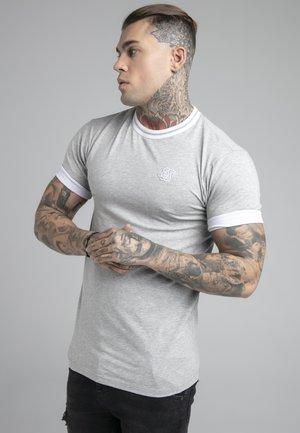 ROLL SLEEVE TEE - T-shirts basic - grey/white