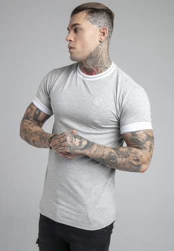 ROLL SLEEVE TEE - T-shirt basic - grey/white