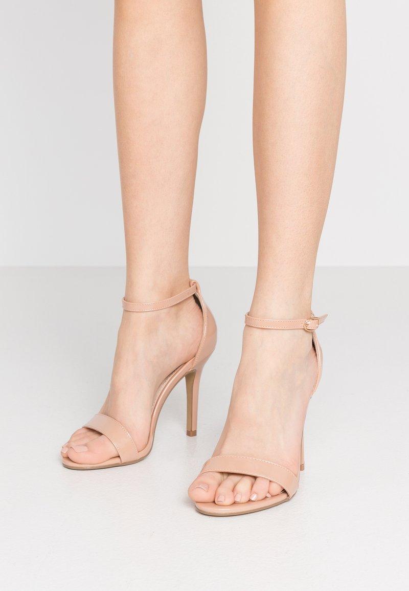 Glamorous Wide Fit - Sandály na vysokém podpatku - beige