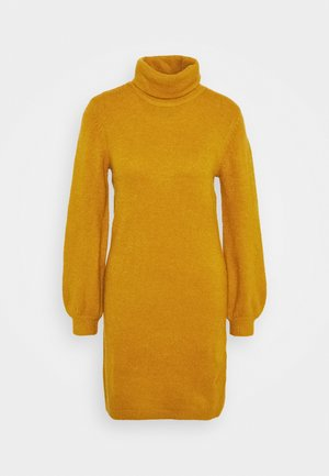 OBJEVE NONSIA ROLLNECK DRESS - Jumper dress - buckthorn brown melange