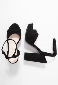 Vero Moda - VMCLOVER  - Korolliset sandaalit - black - 3