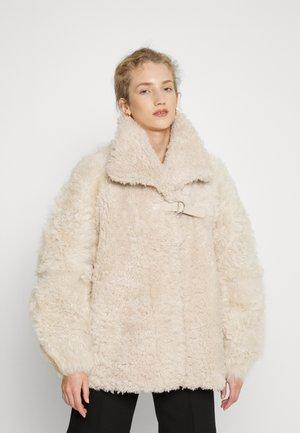 MAZAKI - Lederjacke - beige/natural white