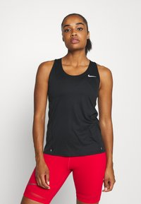 Nike Performance - CITY SLEEK TANK - T-shirt de sport - black/silver - 0