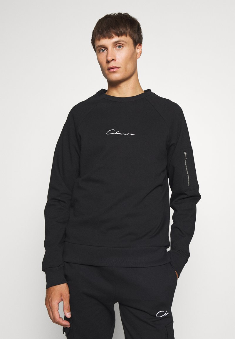 CLOSURE London - UTILITY CREWNECK - Sudadera - black