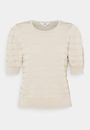 OBJSAVA - Basic T-shirt - sandshell