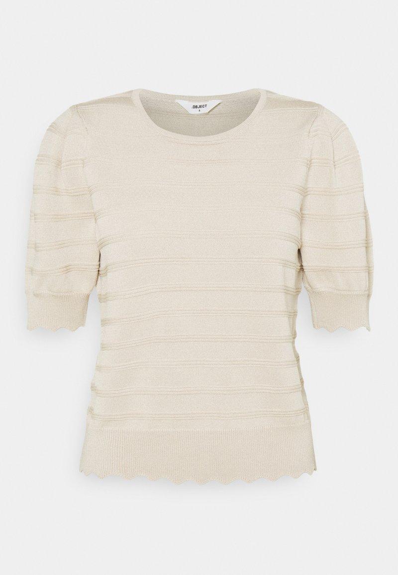 Object - OBJSAVA - Basic T-shirt - sandshell
