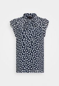 J.CREW - TIE NECK BLOUSE IN SCATTERED DAISIES - Blouse - navy/ivory - 0