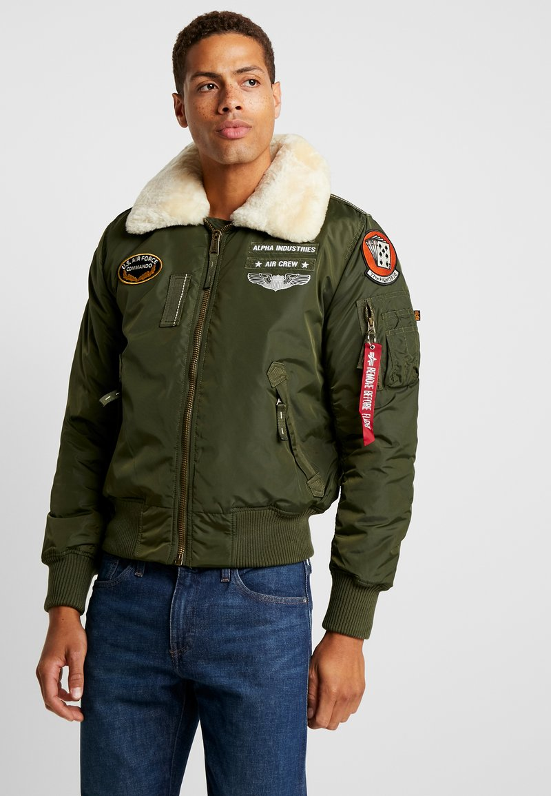 Alpha Industries - INJECTOR  AIR FORCE - Bomber Jacket - dark green