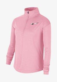 Nike Performance - HAUT DE RUNNING À MANCHES LONGUES ET DEMI-ZIP NIKE POUR FILLE PL - Long sleeved top - pink - 0