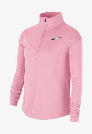 HAUT DE RUNNING À MANCHES LONGUES ET DEMI-ZIP NIKE POUR FILLE PL - Long sleeved top - pink