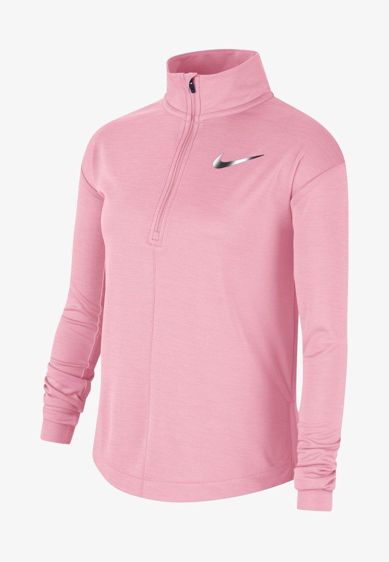 Nike Performance - HAUT DE RUNNING À MANCHES LONGUES ET DEMI-ZIP NIKE POUR FILLE PL - Long sleeved top - pink
