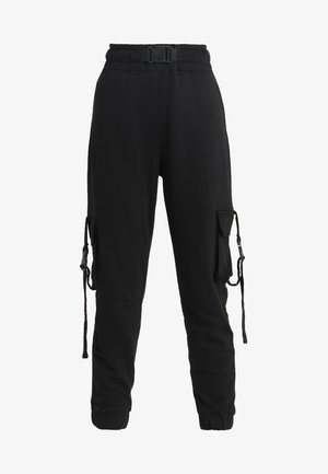 SEAT BELT CARGO TROUSER - Cargo trousers - black