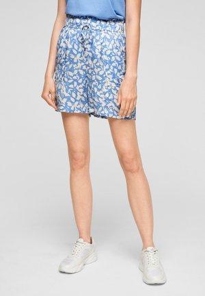 Shorts - light blue floral aop