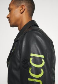 Carlo Colucci - JACKET WITH PRINT PERFECTO - Leather jacket - black - 4