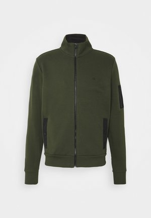 TECHNO FULL ZIP JACKET - Strikjakke /Cardigans - dark olive
