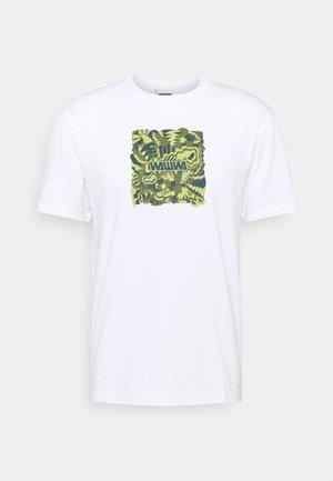 JUNGLE LOGO UNISEX - Print T-shirt - white/lime