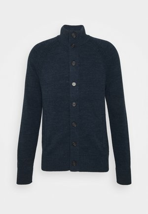 UTILITY BUTTON - Cardigan - navy heather