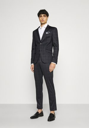 CHECKED SUIT - Kostym - black