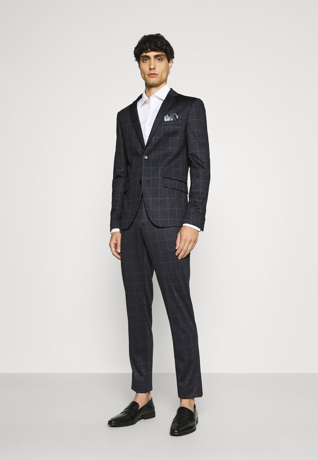 CHECKED SUIT - Oblek - black