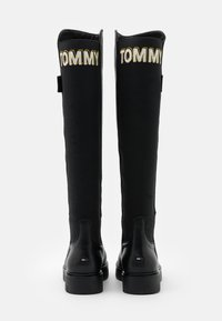 Tommy Jeans - DOUBLE DETAIL LONG BOOT - Over-the-knee boots - black - 3