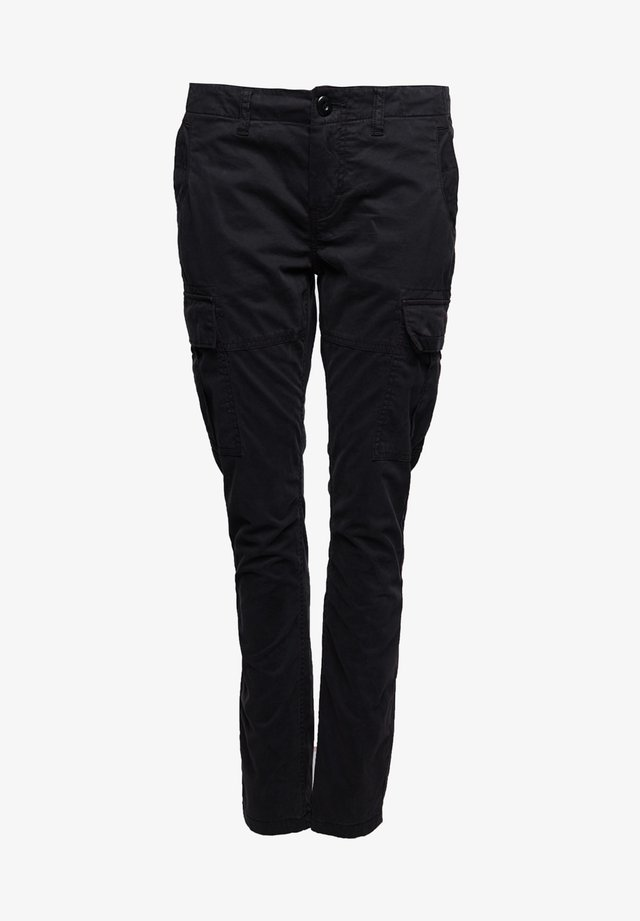Cargo trousers - vulcan black