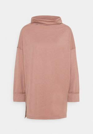 FUNNEL NECK TUNIC - Long sleeved top - light brown