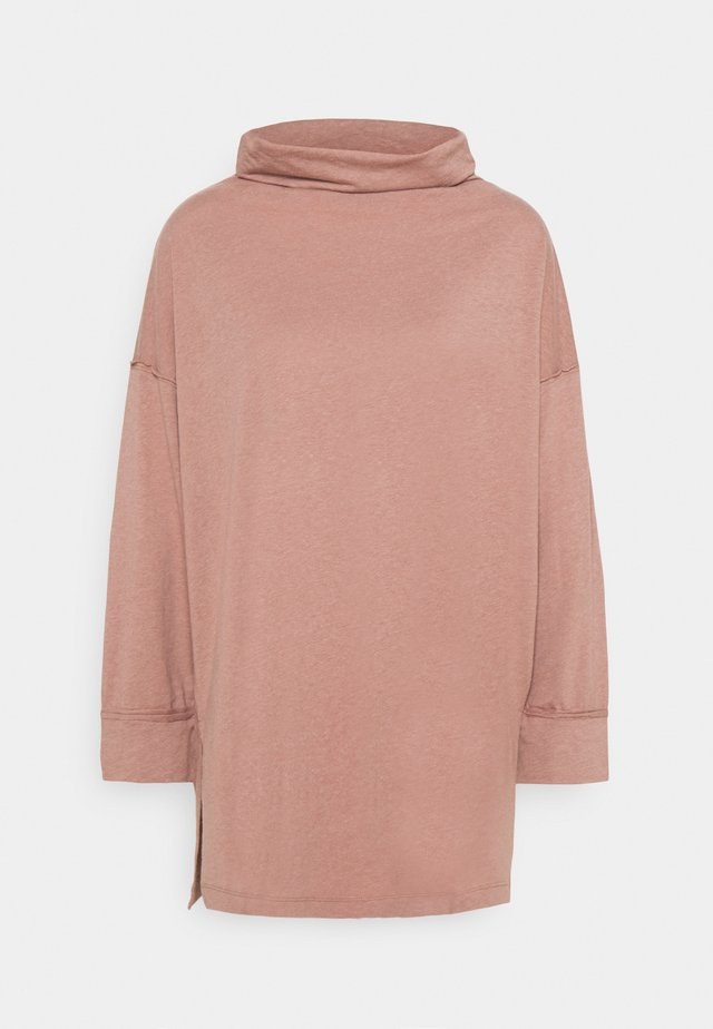 FUNNEL NECK TUNIC - T-shirt à manches longues - light brown