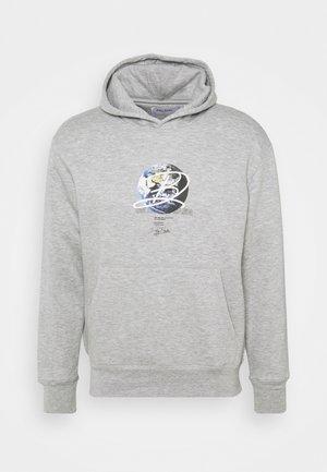 GLOBE HOOD UNISEX - Sweatshirt - grey marl