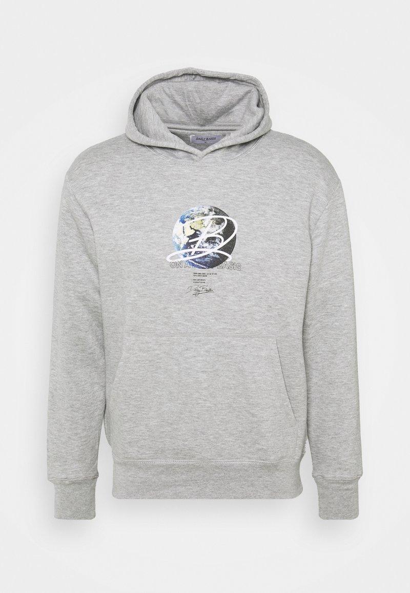 Daily Basis Studios - GLOBE HOOD UNISEX - Sweatshirt - grey marl