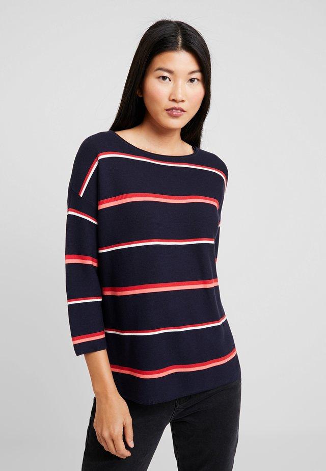 3/4 ARM - Pullover - blau/rot/orange