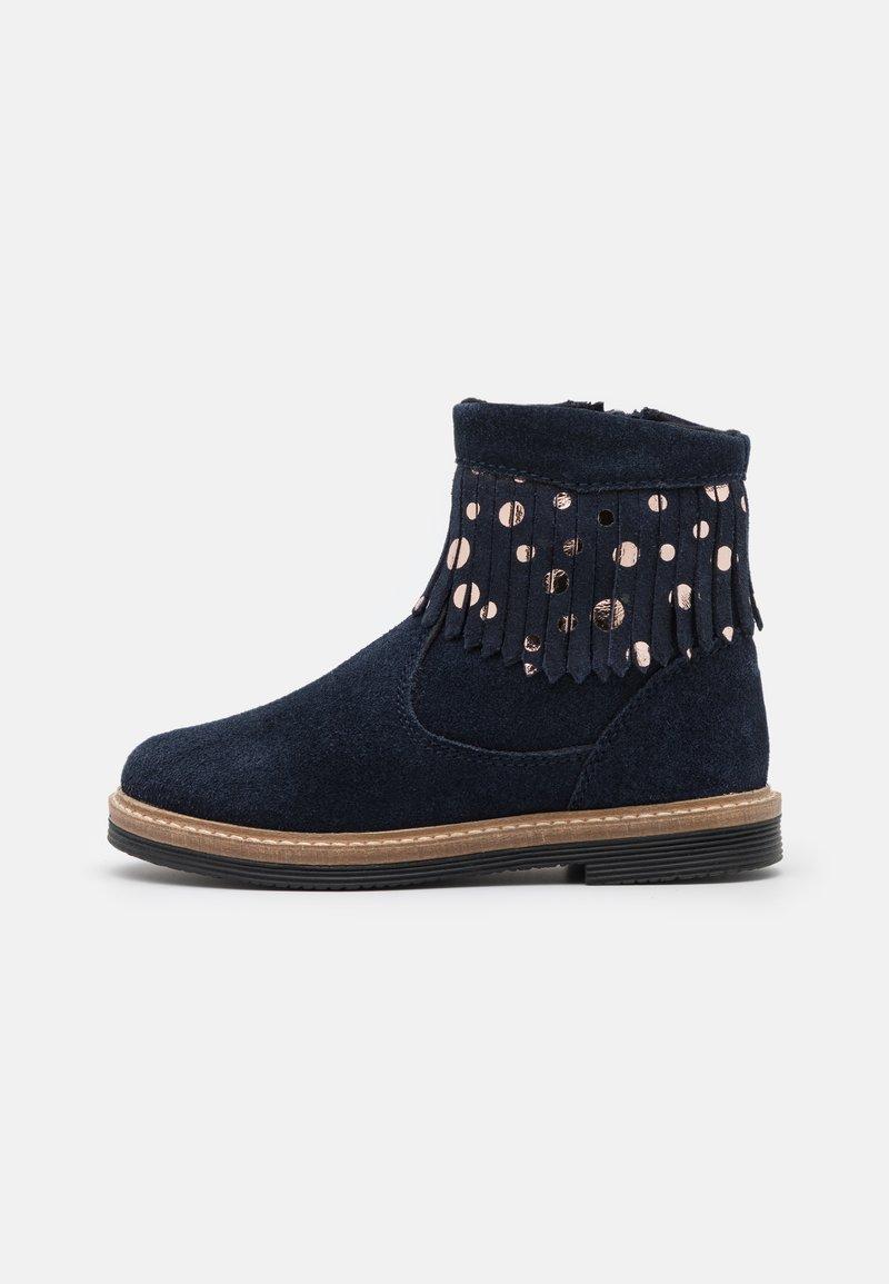 Friboo - LEATHER - Korte laarzen - dark blue