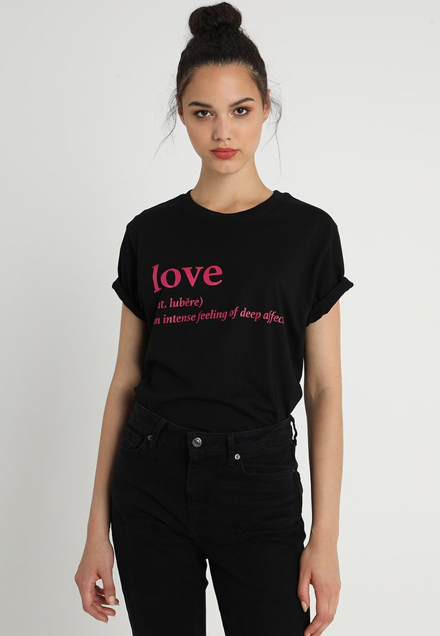 LOVE DEFINITION TEE - T-shirt imprimé - black