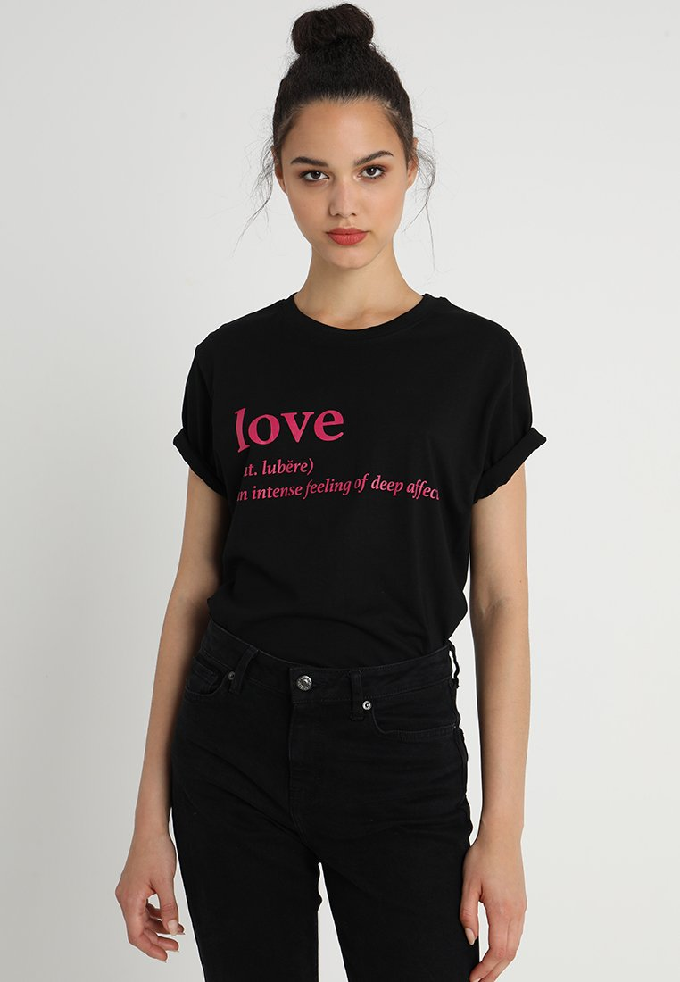 Merchcode - LOVE DEFINITION TEE - Camiseta estampada - black