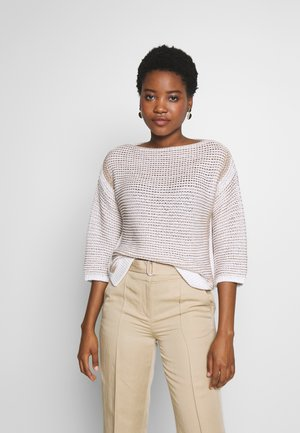 CROPPED  HIGHLIGHT STRUCTURE - Jersey de punto - multi/white