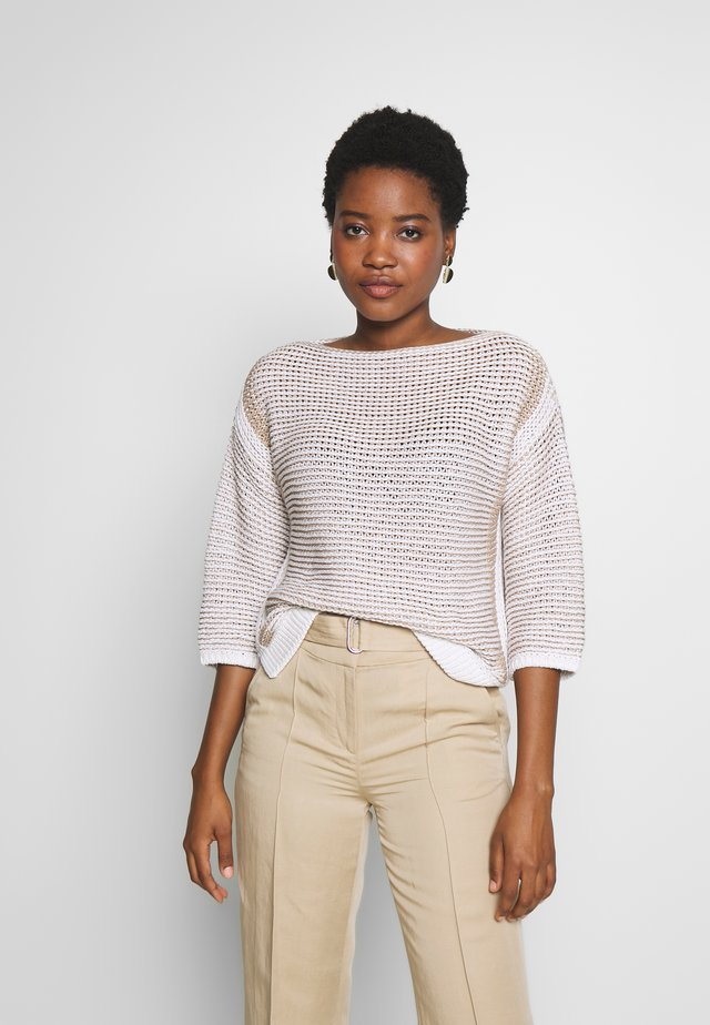 CROPPED  HIGHLIGHT STRUCTURE - Pullover - multi/white