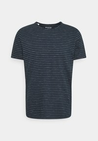 Selected Homme - SLHMORGAN STRIPE O NECK TEE - Print T-shirt - dark sapphire/egret - 0