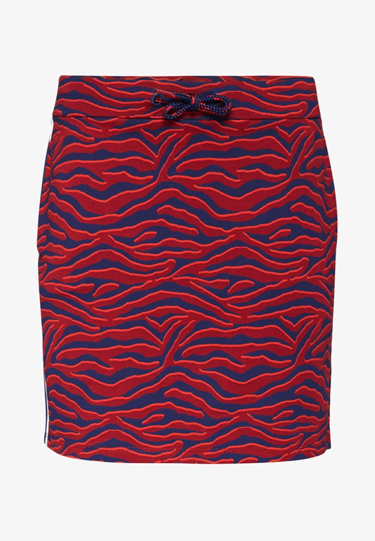 WE Fashion - ZEBRADESSIN ROK - Minijupe - vintage red