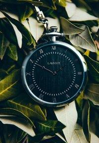 LAIMER - LAIMER QUARZ HOLZUHR - ANALOGE TASCHENUHR SANDELHOLZ - Watch - silver - 6
