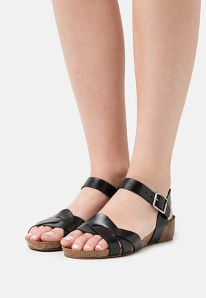 JADE - Wedge sandals - black