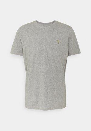 SLHJUDE O NECK TEE - Basic T-shirt - grey melange