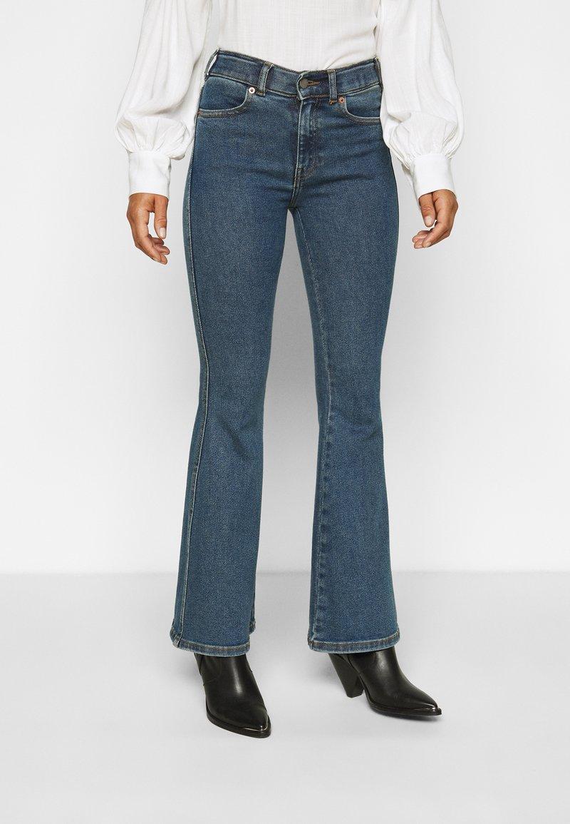Dr.Denim Petite - MACY - Široké džíny - stoker blue